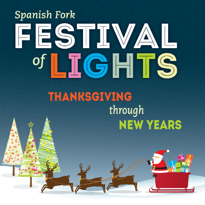 enjoy holiday lights from the comfort of your vehicle this festival of lights is perfect for all ages beginning thanksgiving night nov 24 2016 running - Spanish Fork Christmas Lights